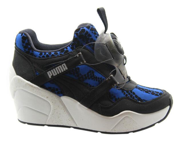 Puma DISCHETTI zeppa WR Scarpe sportive da donna senza pizzo blu nero 357290 M2