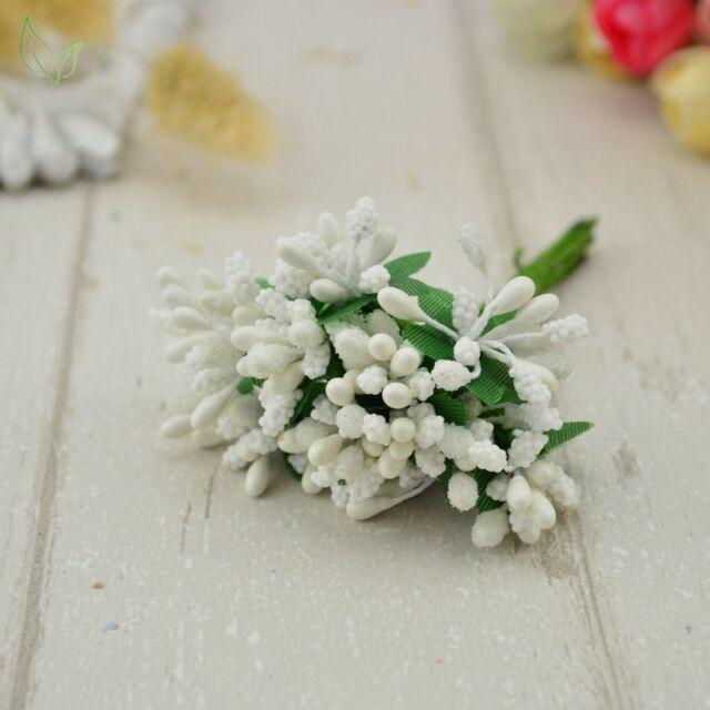 12 pcs stamen sugar handmade artificial flowers cheap wedding picture 7 of 7 junglespirit Images