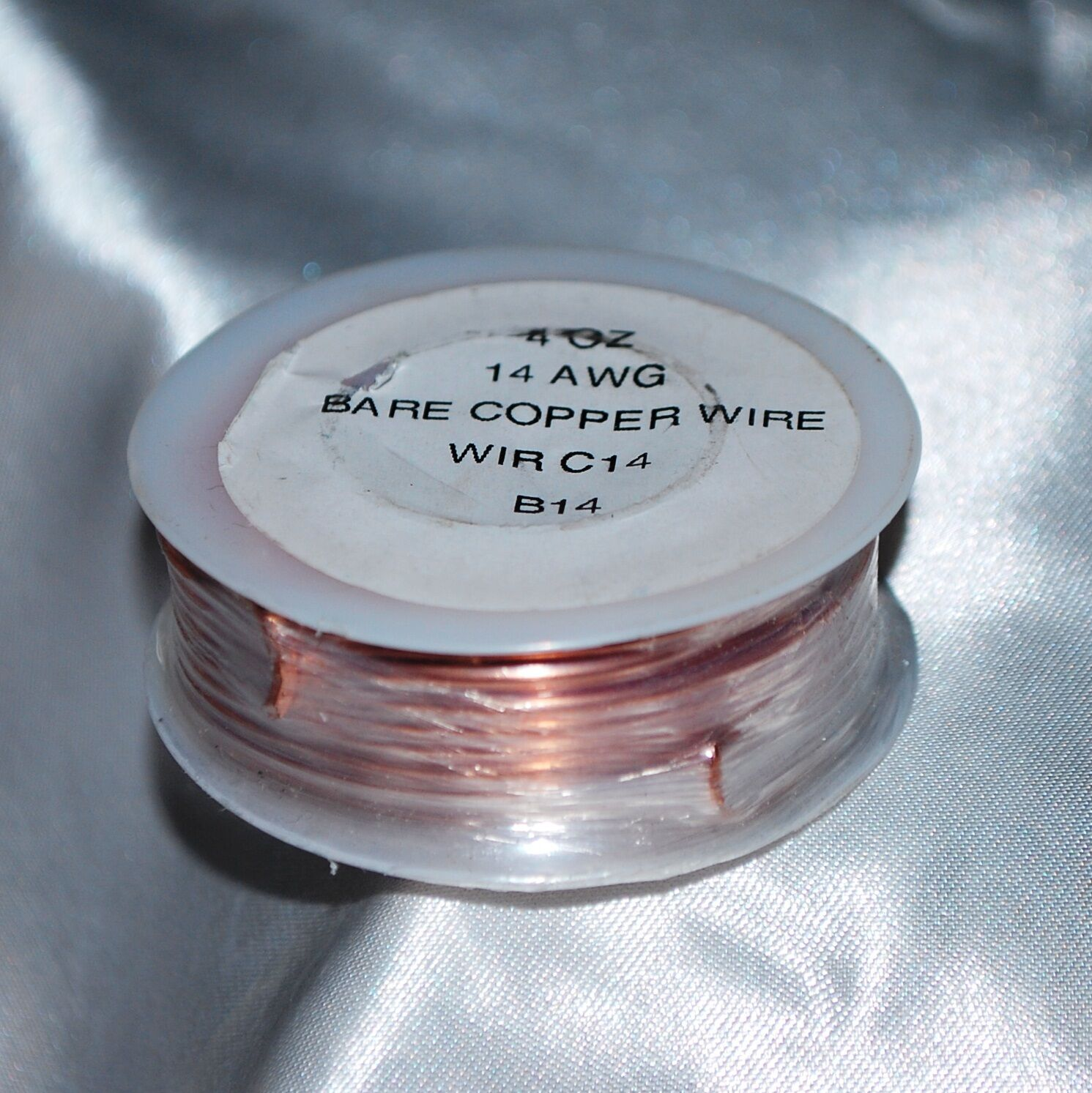 4 Oz Roll (20 Feet) 14 Gauge Solid Bare Copper Wire Thick Enough to ...