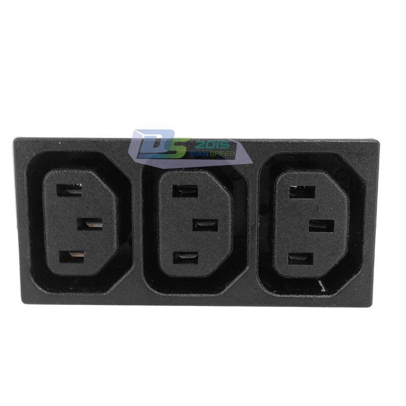 s l1600 3 way iec 320 c13 pdu ups plug power female inlet sockets IEC 320 C14 Power Plug at creativeand.co