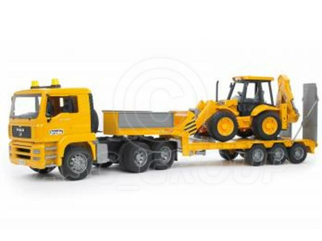 Bruder Toys 02776 Pro Series MAN TGA LOW LOADER with JCB 4CX Digger 1:16