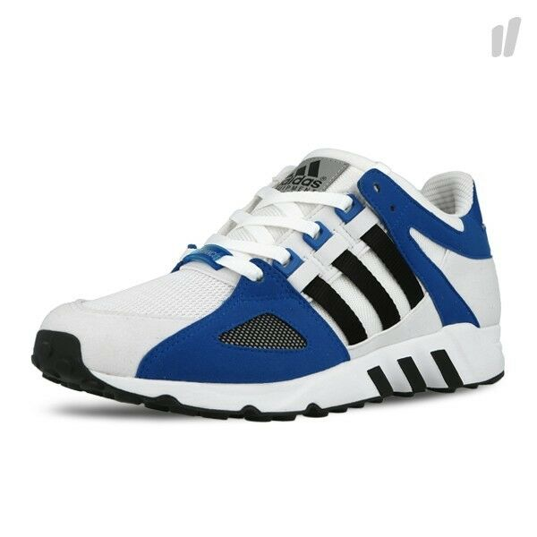 Mens adidas Equipment Guidance 93 Running Shoes White Blue Trainers S77281  12 | eBay