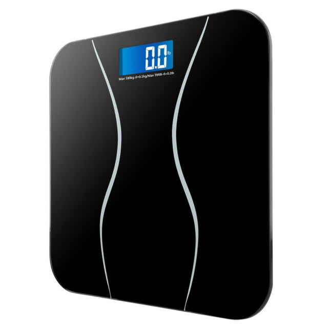 Digital Electronic Lcd Personal Gl Bathroom Body Weight Weighing Scales 396lb
