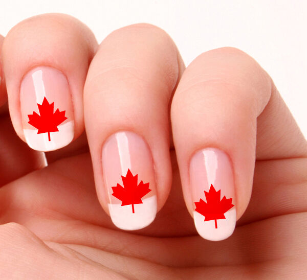 20 Nail Art Stickers Transfers Decals #490 - Canadian Maple Leaf ...