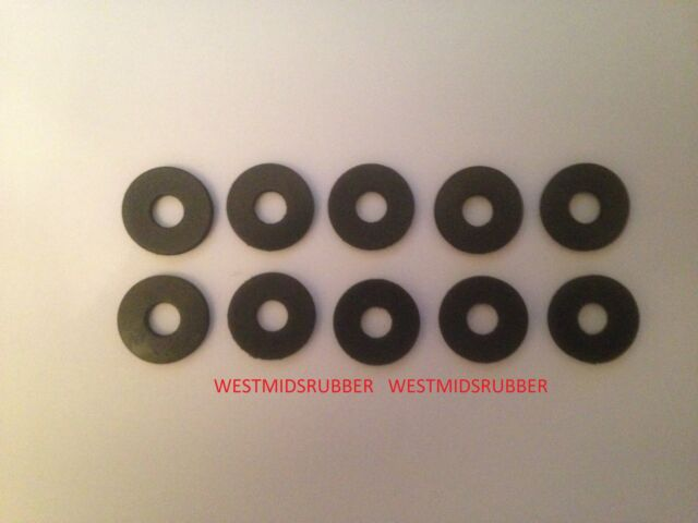 10 Rubber Washers 25mm OD X 16mm Hole X 3mm Thick | eBay