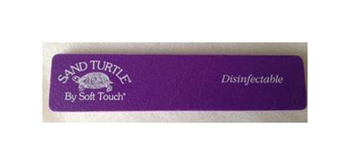 Soft Touch Sand Turtle Nail Files File Purple Fine Disinfectable120 Grit 3
