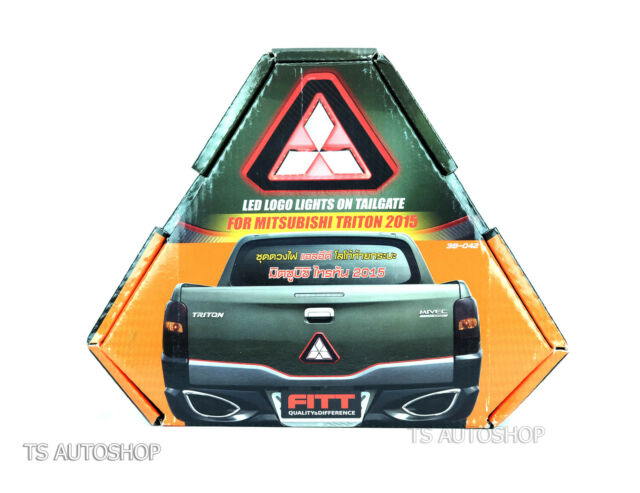 Led Logo Light Tailgate Rear Back Emblem Fitt For Mitsubishi Triton