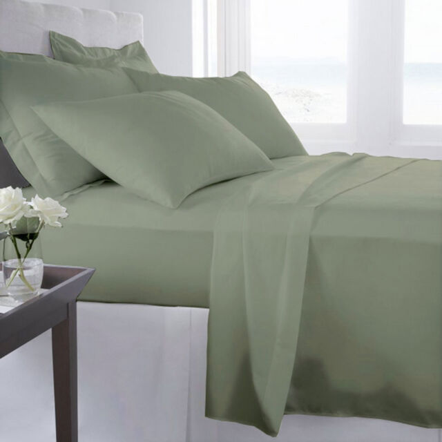 1200 Thread Count 100 Egyptian Cotton 1200tc Bed Sheet Set Cal