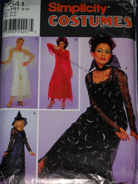 Misses Witch Devil and Angel Costume Size 6 to 12 Simplicity 0641 ...