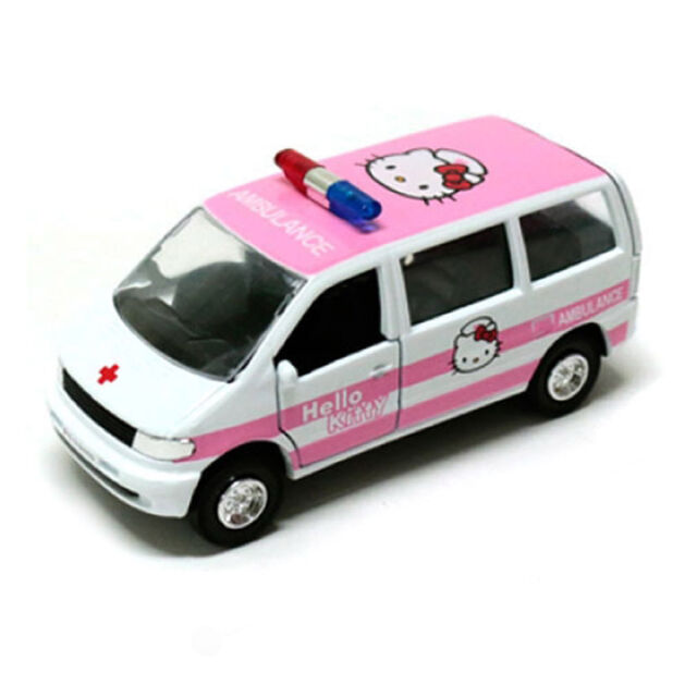 hello kitty mini ambulance car figure cute toy for kids children