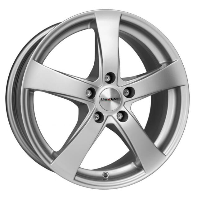 """17"""" DEZENT RE SILVER ALLOY WHEELS ONLY BRAND NEW 5x120 RIMS"""