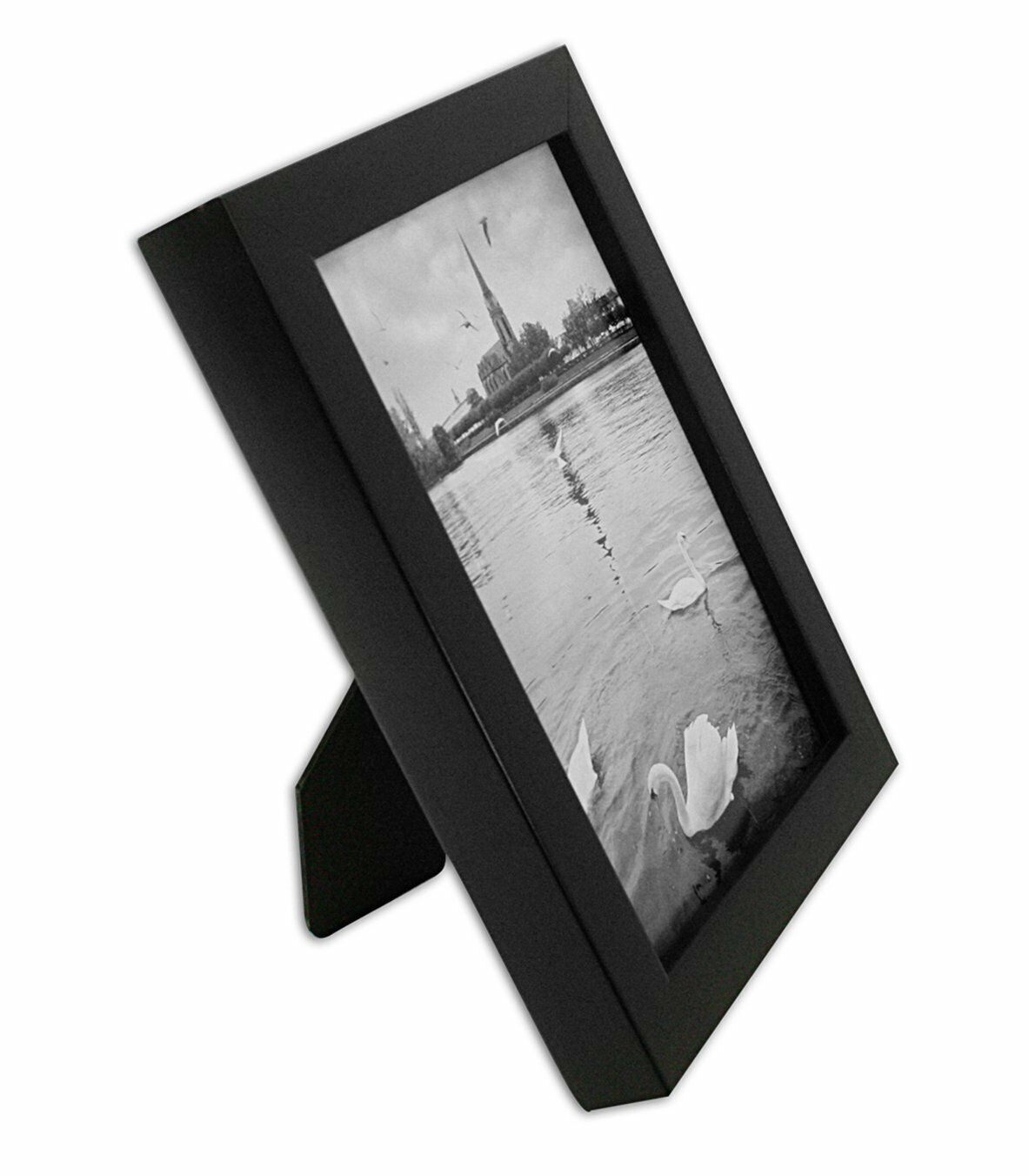 Golden State Art 8x10 Ebony Black Color Wood Swan Photo Frame With ...