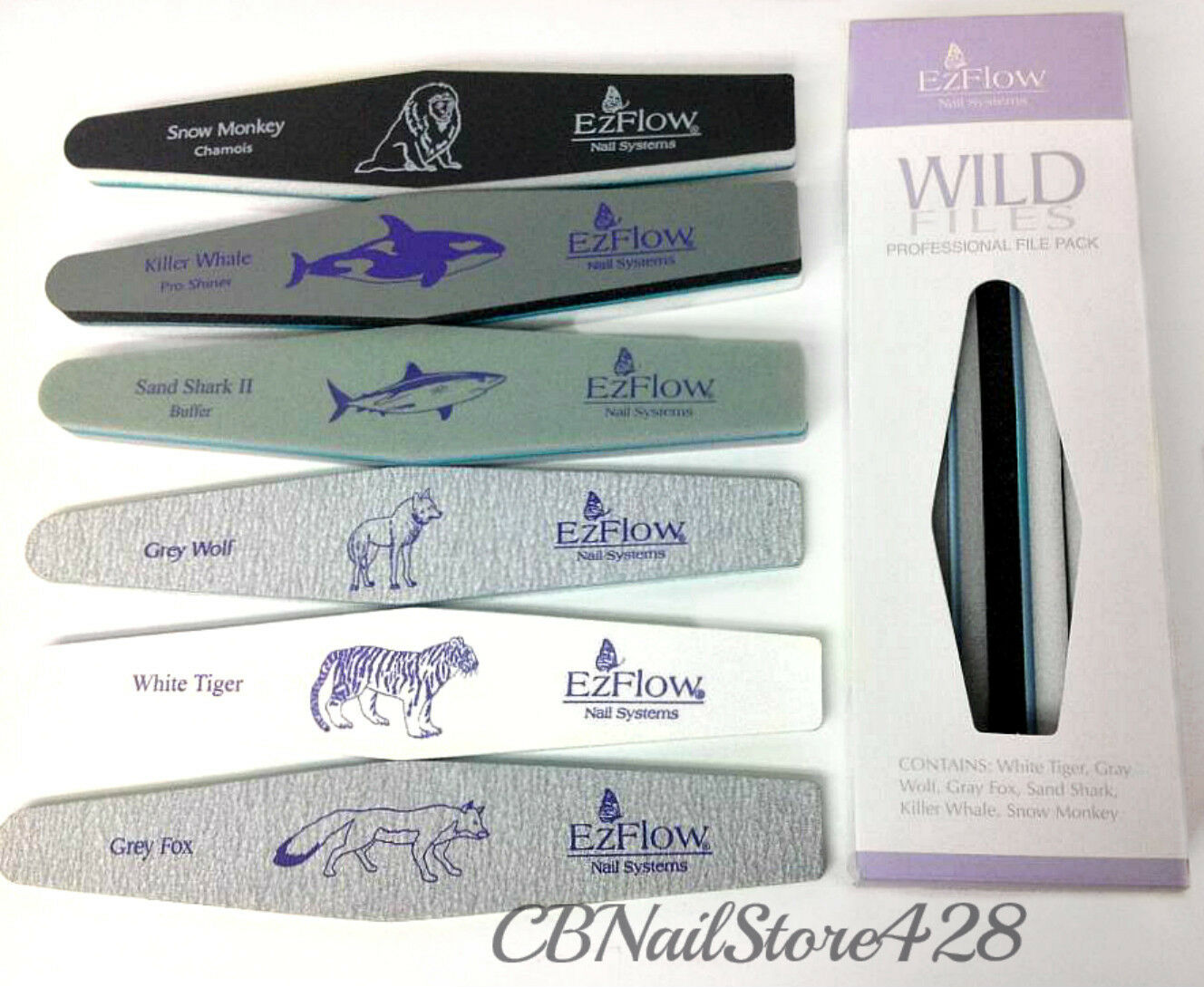EzFlow Nail Systems- Wild Files - Professional File Sample Pack ...