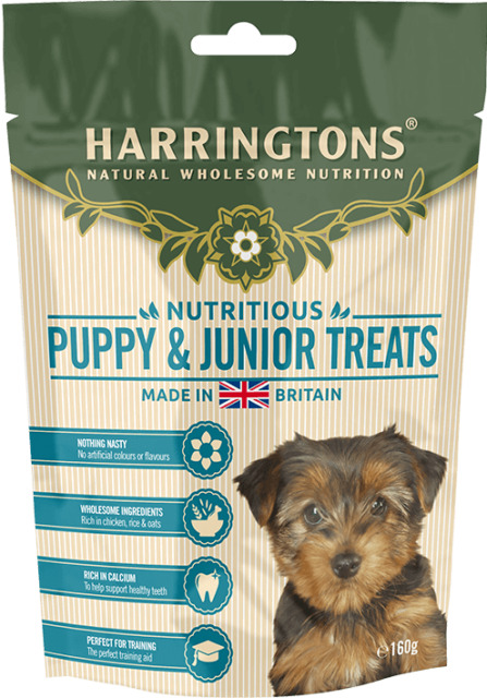 Harringtons Natural Puppy Training Dog Treats Hypoallergenic 160g Box of 9