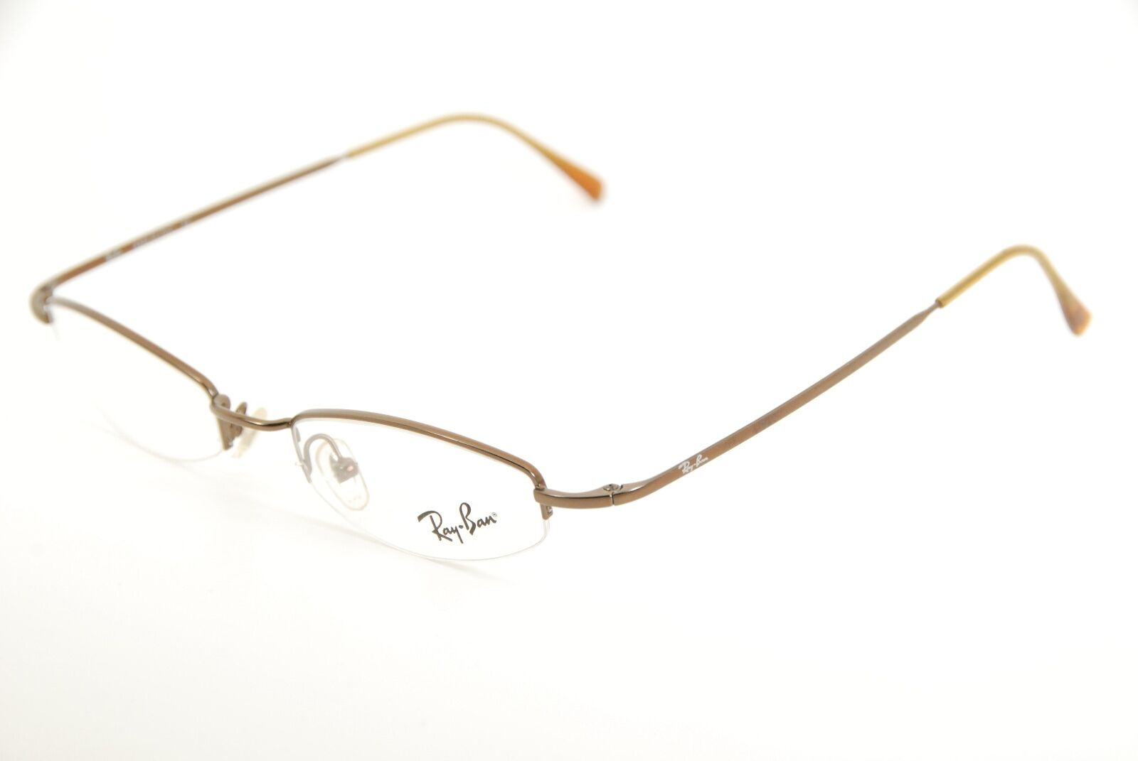 Authentic Ray Ban RB 6059 2505 Brown 49mm Half Rim Frames Eyeglasses ...