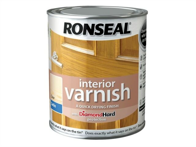 Ronseal Interior Varnish Quick Dry.  Protects all interior wood