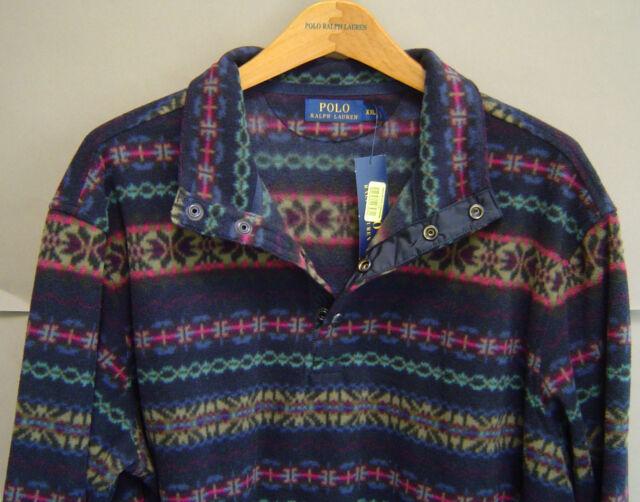 Polo Ralph Lauren Mens XXL Fair Isle Fleece Pullover Jacket ...