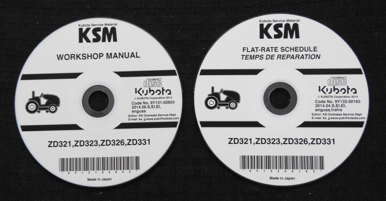kubota zd321 zd323 zd326 zd331 zero turn mower workshop manual ebay rh ebay com 12H802 Manual Parts Manual