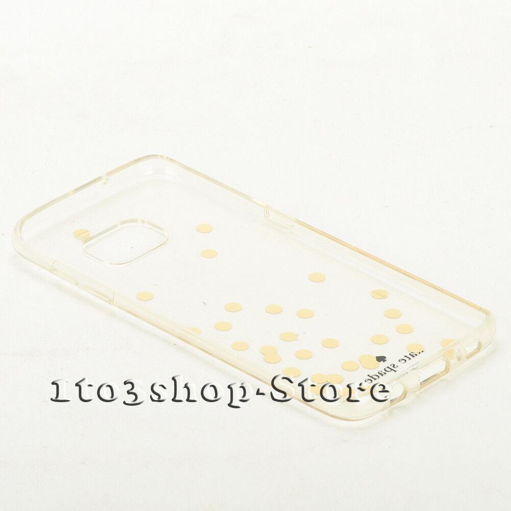 Kate Spade Samsung Galaxy S7 Edge Hardshell Transparent Gold Dot Clear Case  | eBay