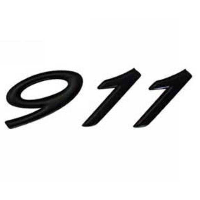 Porsche 993 Engine Lid: Genuine Porsche 911 Black Logo Badge Decal