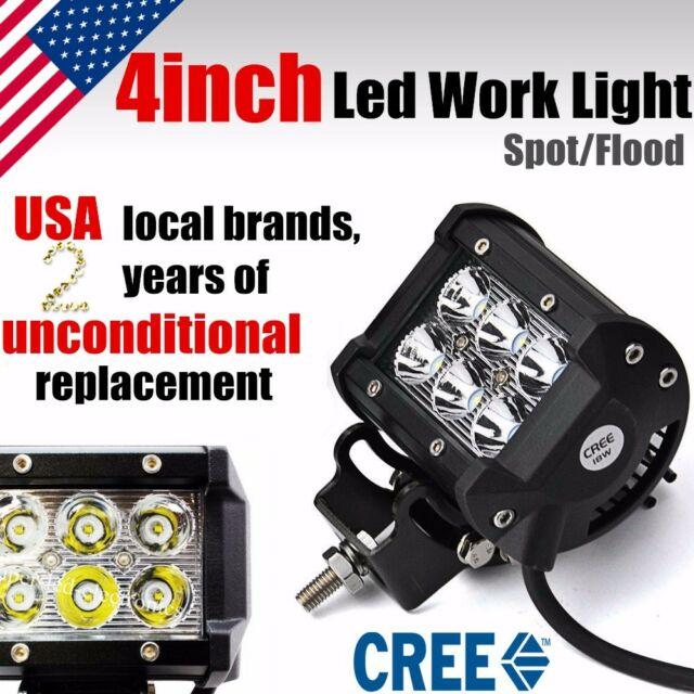 2x 4 inch 18w cree led light bar work flood jeep lamp car off road 2x 4 inch 18w cree led light bar work flood jeep lamp car off road aloadofball Images