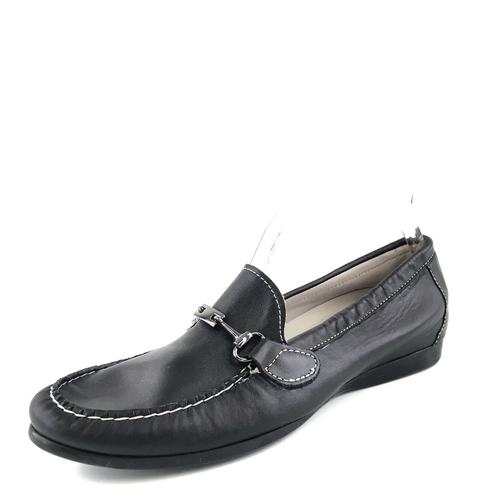 *Womens MUNRO Black Leather Loafers Shoes Sz. 7.5 N NEW!