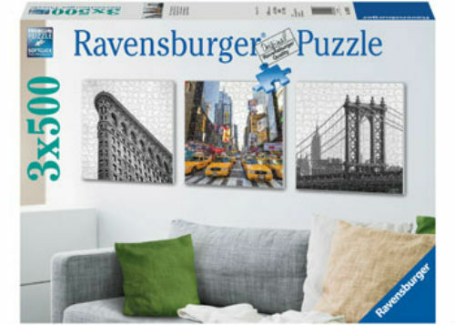Ravensburger 3x500pc New York Impressions Jigsaw Puzzle RB19923-5