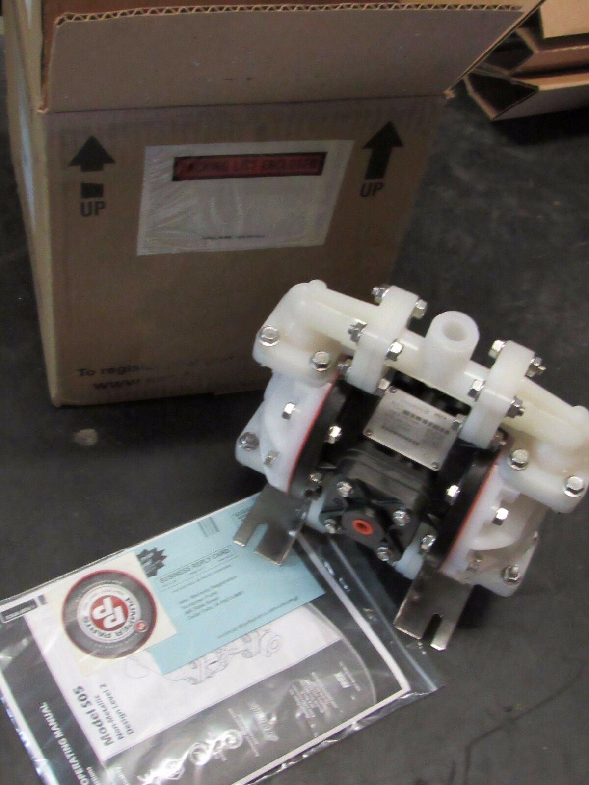 Sandpiper s05b2k1tpns000 diaphragm pump air operated pvdf 100 psi ebay picture 1 of 3 ccuart Image collections