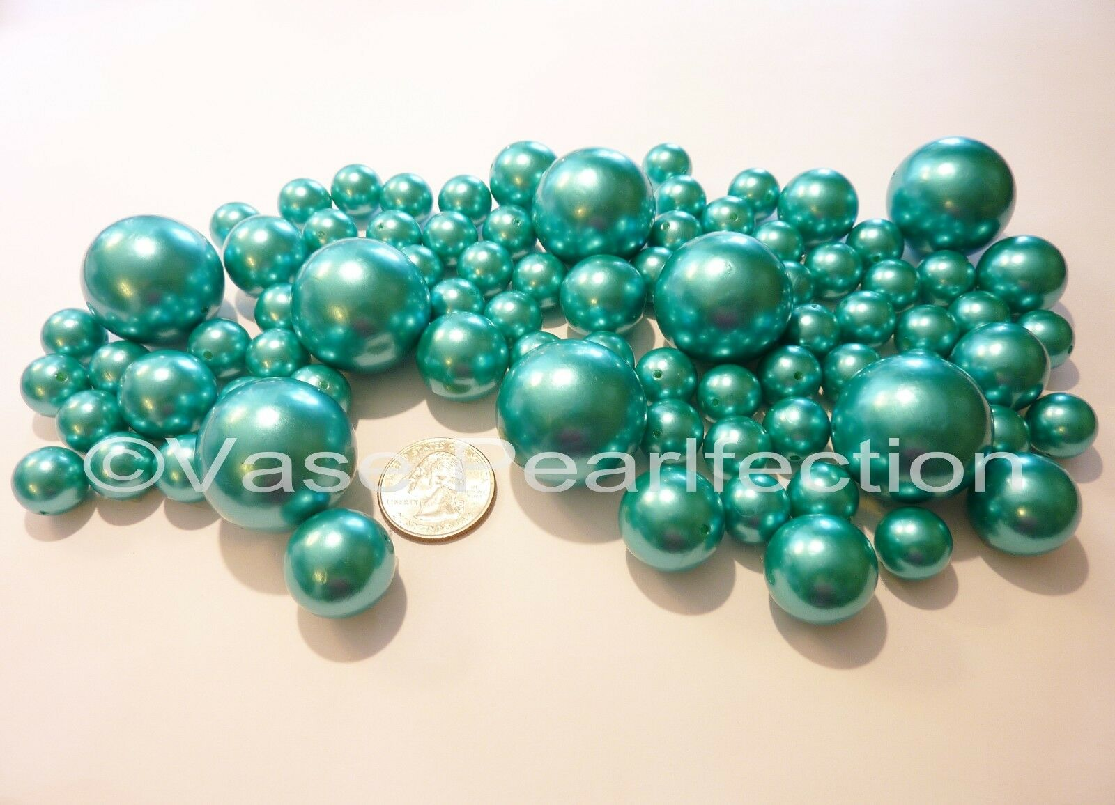 80 jumbo assorted sizes turquoise pearlsteal blue pearls vase picture 1 of 2 reviewsmspy