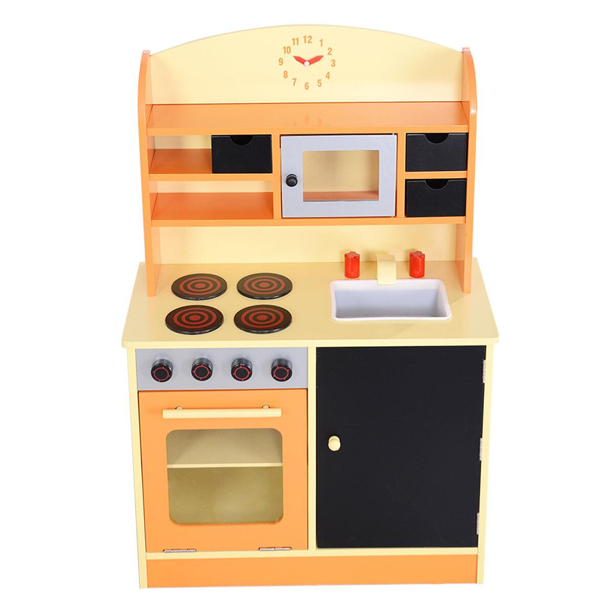 Kitchen Set wooden kitchen set photos : Wooden Play Kitchen | eBay