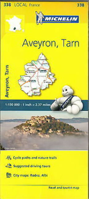 Michelin Map 338 Aveyron Tarn France Local Road and Tourist