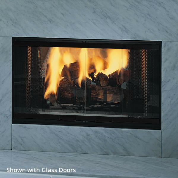 "Find great deals for Majestic DESIGNER See Through Wood Burner Fireplace 42"" W/ 2 Bi-fold Doors DSR42. Shop with confidence on eBay!"