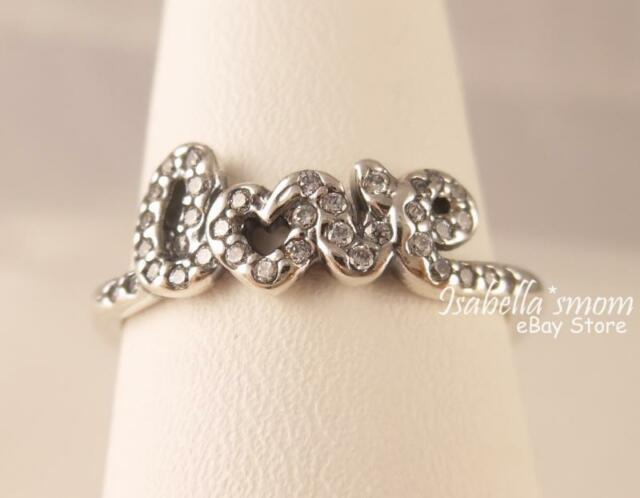 valentine signature of love genuine pandora silverclear cz ring 7556 new
