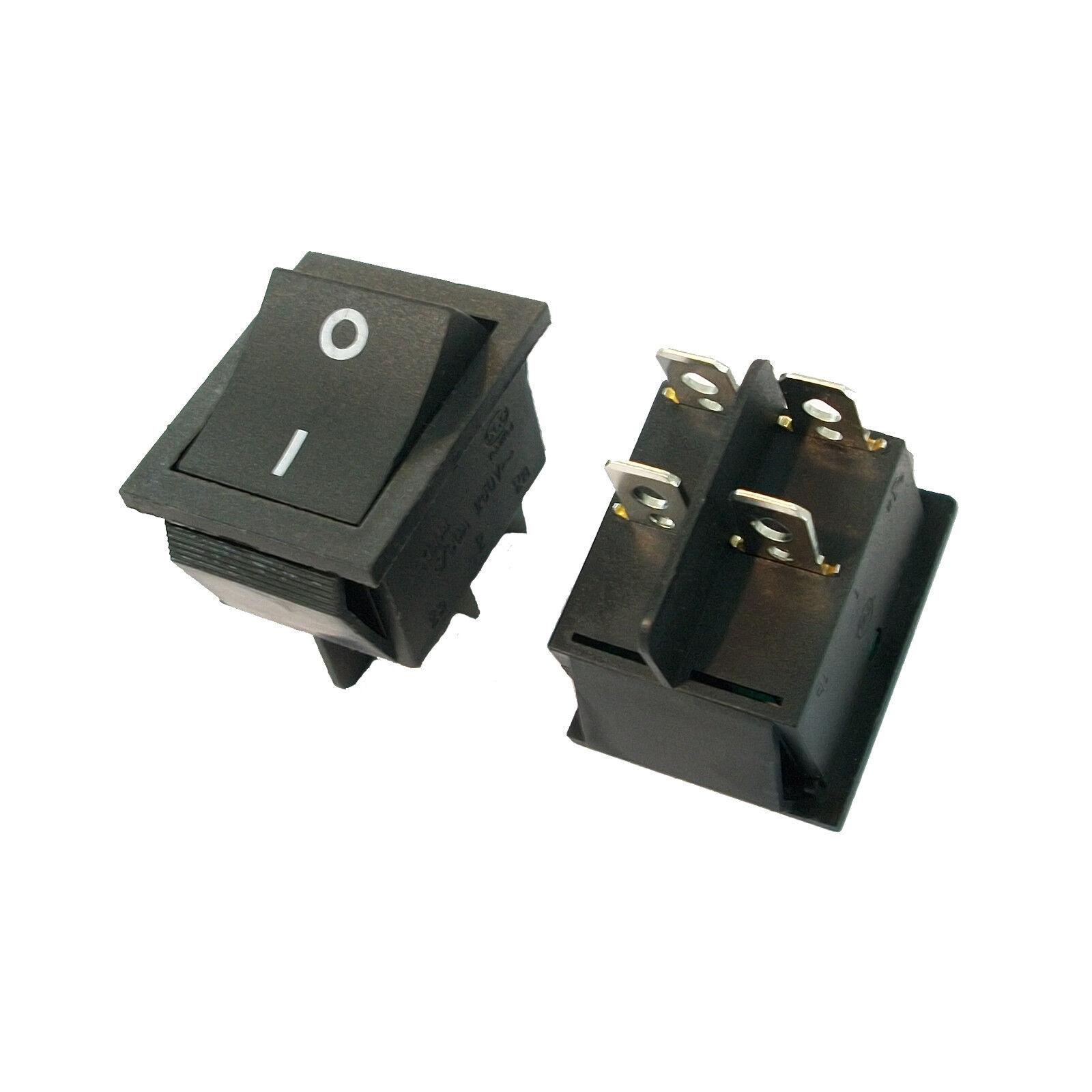 20 X 32mm 4 Pin DPST On/off Boat Car Rocker Switch Kcd4-201n Black ...