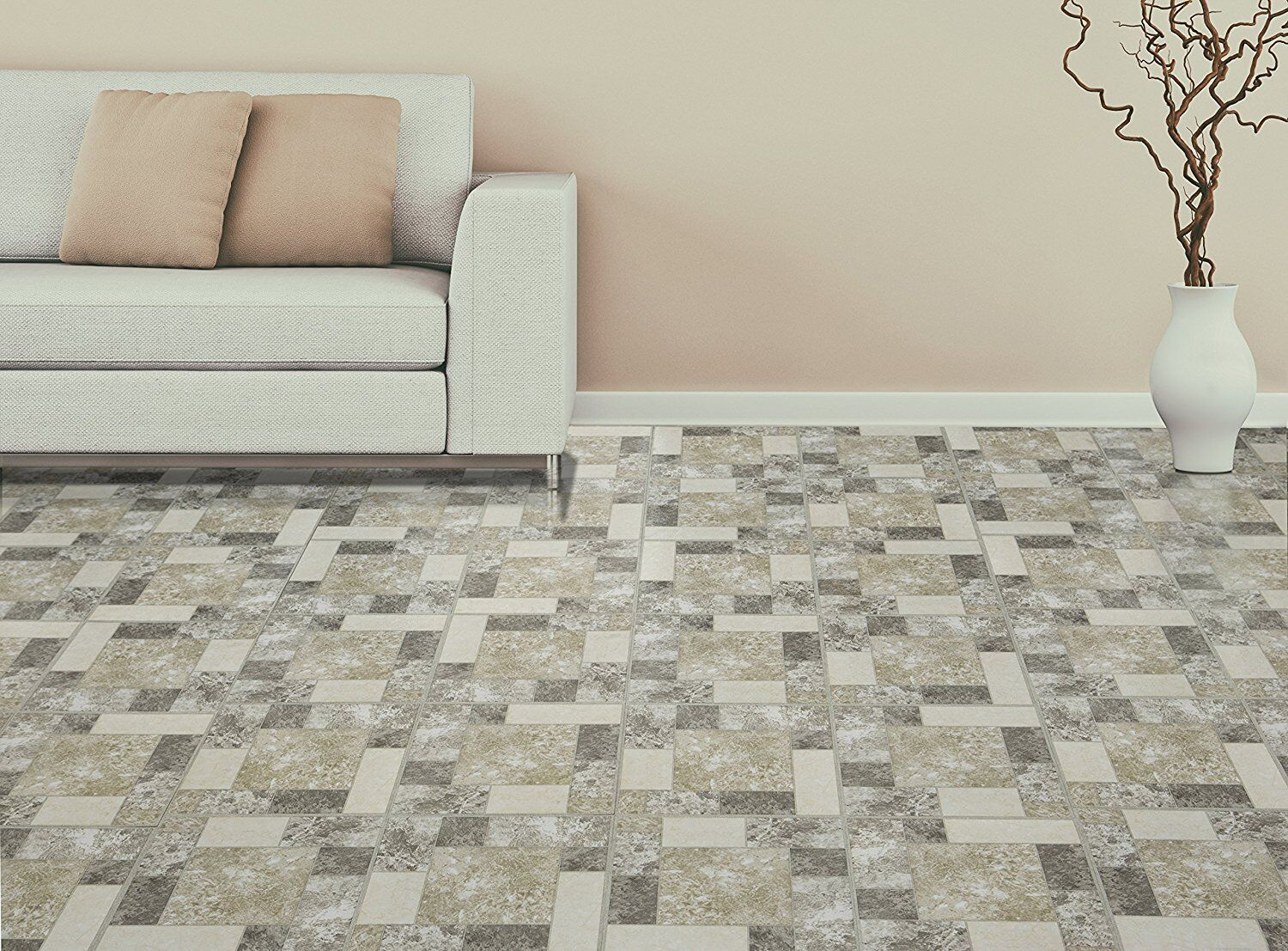 Vinyl floor tiles 20 pack flooring looks like real wood parquet picture 11 of 12 dailygadgetfo Images