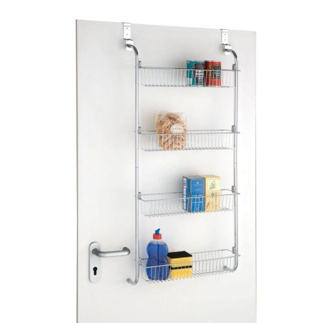 4 Tier Over Door Hanging Food Cupboard Storage E Rack Kitchen Bathroom
