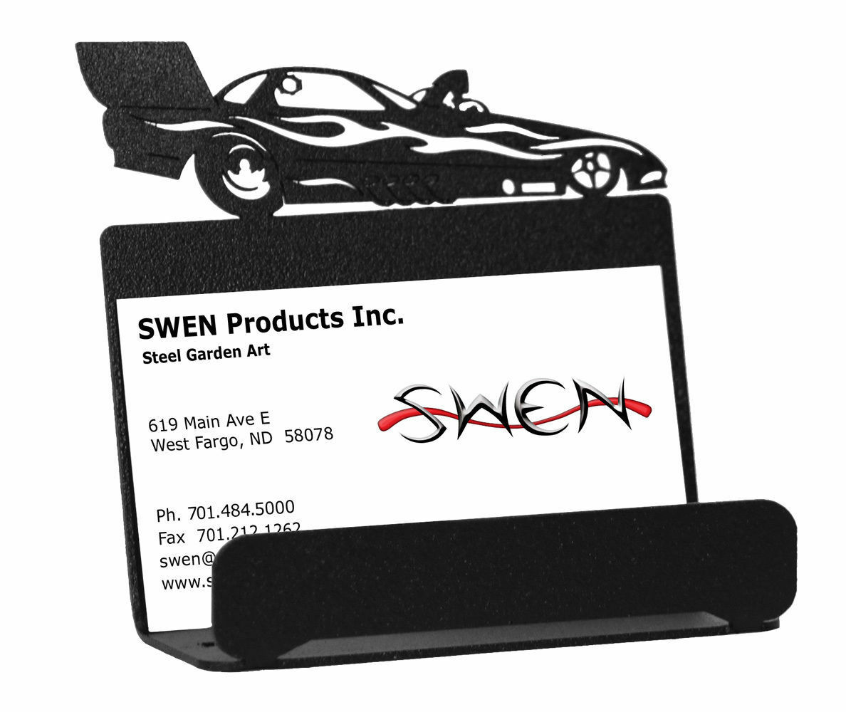 Swen Products Farrell Funny Car Black Metal Business Card Holder ...