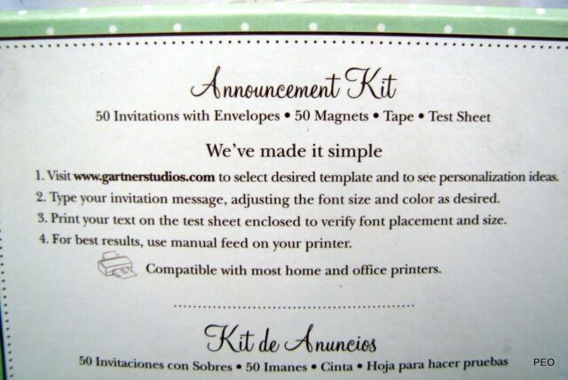 Gartner studios birth announcement kit baby girl with keepsake gartner studios birth announcement kit baby girl with keepsake magnet 50 count ebay pronofoot35fo Gallery