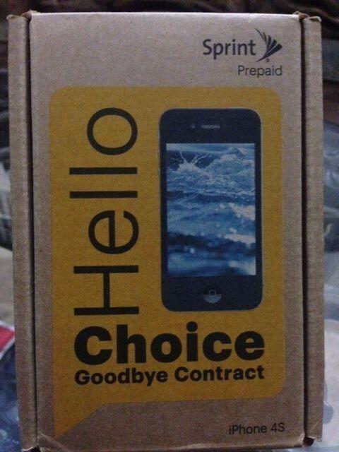 New Apple iPhone 4S - 16GB - Black Sprint PREPAID Clean ESN Phone 2233