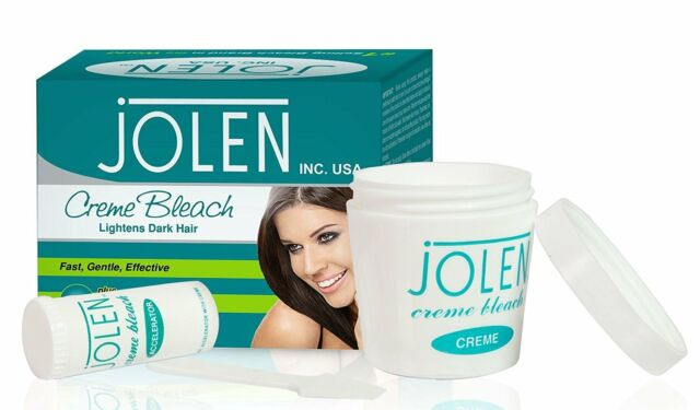 Facial hair bleaching cream