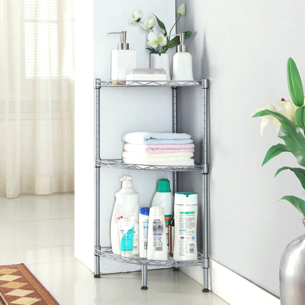 3-layer Bathroom Corner Storage Shelf Shower Caddy Kitchen Organizer ...