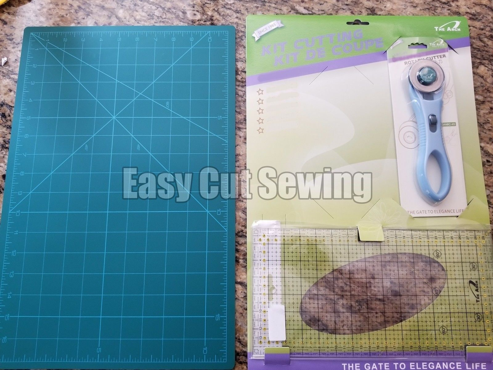 Sewing Cutting Mat Set A3 Quilting Ruler Fabric Crafts 45mm Rotary ... : quilt rulers for rotary cutting - Adamdwight.com
