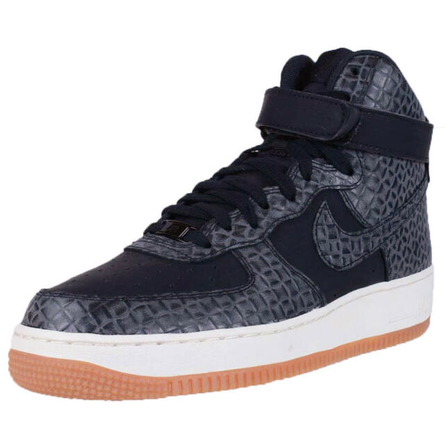 NIKE WOMENS AIR FORCE 1 HIGH PREMIUM BLACK GUM BROWN SAIL AF1 654440 009