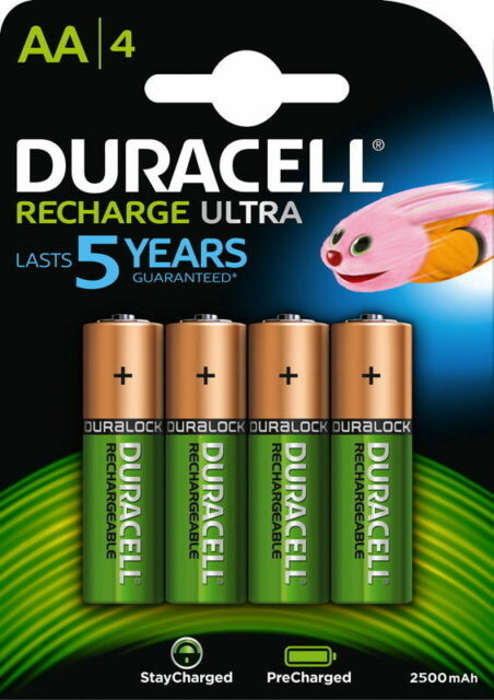 4 x Duracell Ultra Rechargeable Mignon AA HR6 Akku NiMH 1,2Volt 2500mAh