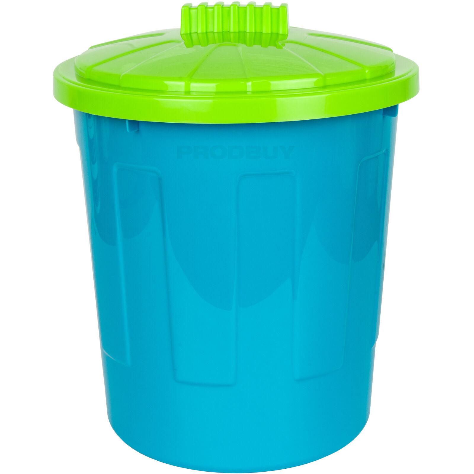 8 Litre Round Blue Purple Waste Paper Basket Rubbish Bin Home ...
