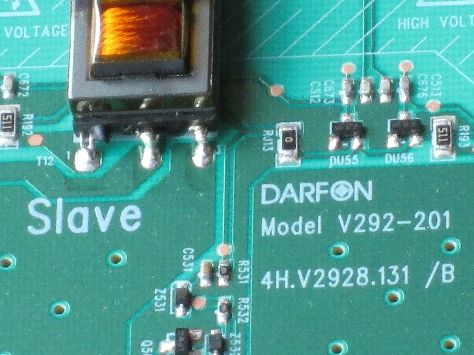 SANYO Dp55441 Backlight Inverter (slave) 1954t01029 19.54t01.029 ...