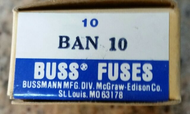 bussmann buss ban 10 10 amp fuse ban10 ebay on 10 Amp Ceramic Fuse for buss fuse ban 10 (box of ten) new in box at 1 Amp Mini Fuse