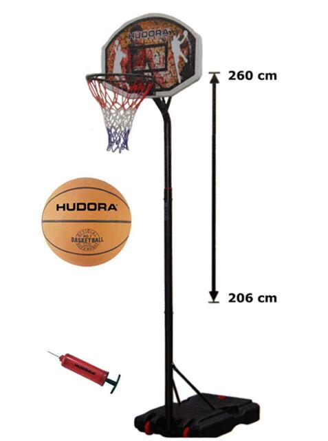 Basketballständer Hudora Chicago bis GH 305 cm 71664 + Ball u. Pumpe