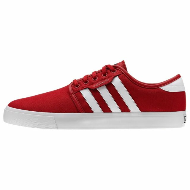 Adidas SEELEY Red White Black Skate Casual Sneakers G66638 (222) Men's Shoes