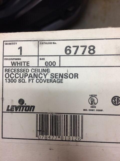 Leviton 6778 Occupancy Sensor 1300 Sq. Ft. Coverage | eBay